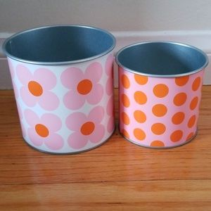 Accent storage cans, 2 pack